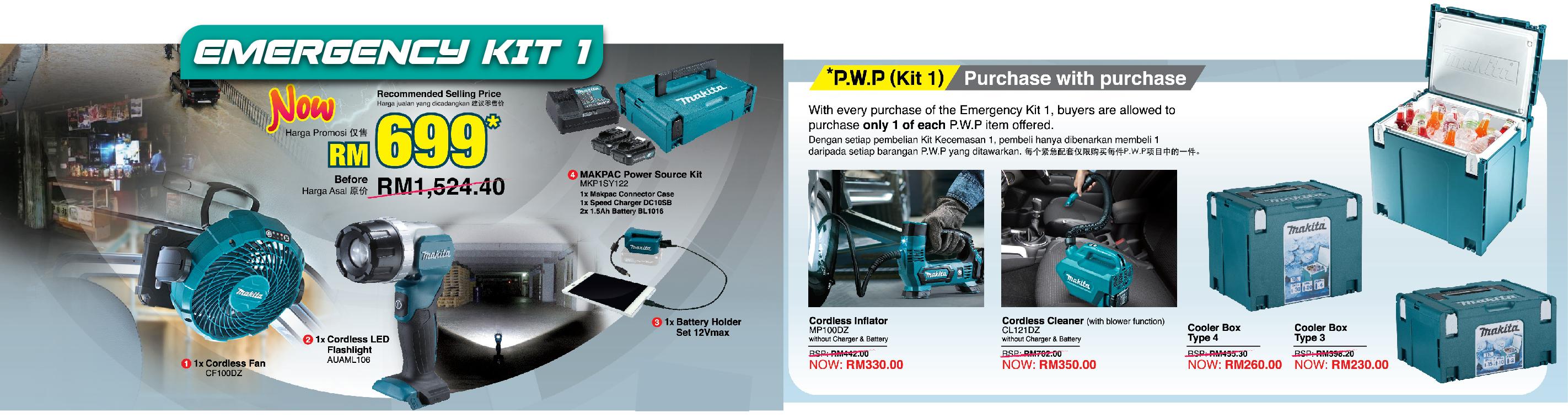 Makita Emergency Kit1 Offer