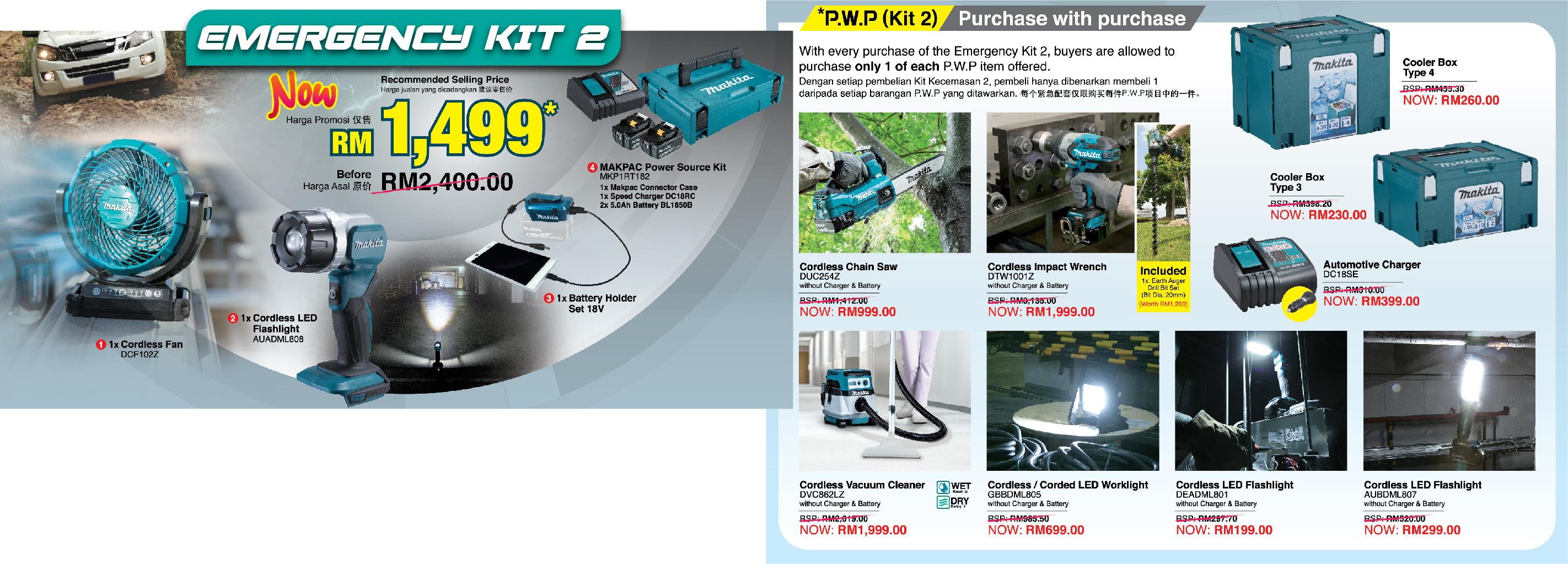 Makita Emergency Kit2 Offer